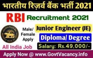 RBI Junior Engineer (JE)