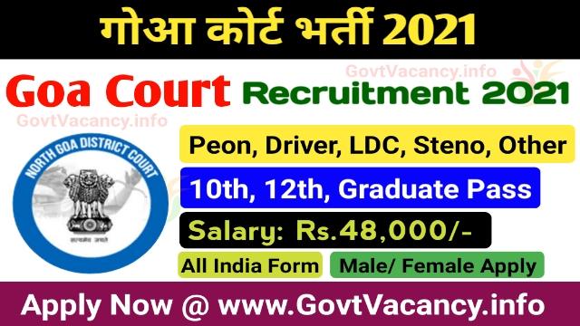 Goa Court Recruitment 2021