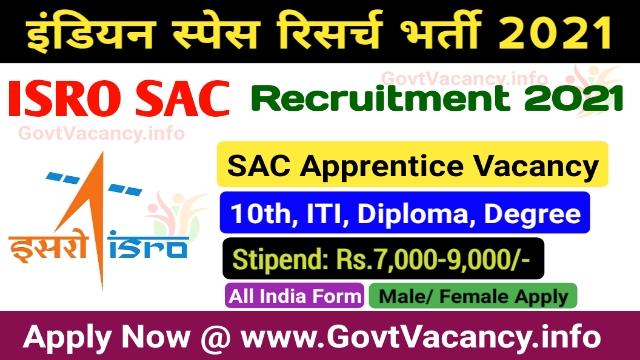 ISRO Apprentice Recruitment 2021